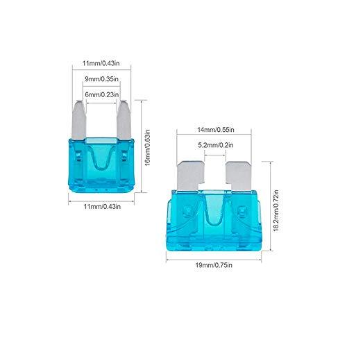 Car Fuses, 220 Pcs Assorted Auto Car Standard Blade Fuses Replacement Kit 2A 3A 5A 7.5A 10A 15A 20A 25A 30A 35A 40A With…