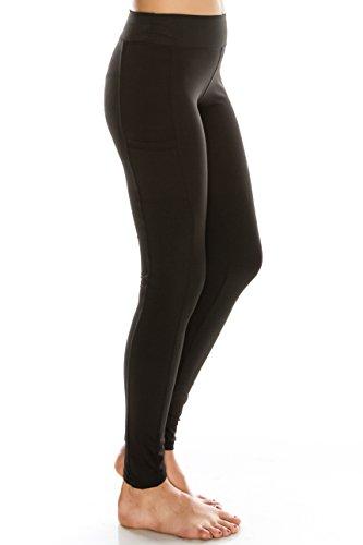 Ettellut Workout Yoga Leggings For Women High Waist Gym Black Black M