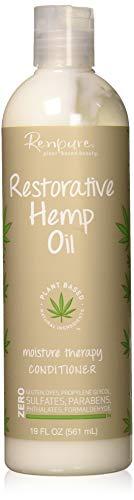 Renpure Plant-Based Beauty Restorative Hemp Oil Moisture Therapy Conditioner, 19 Fluid Ounces