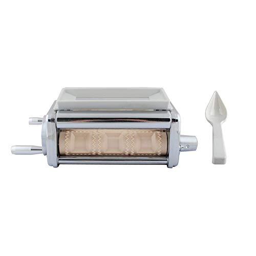 - Poweka Ravioli Pasta Maker Attachment Fit for Ravioli Maker,Ravioli Cutter Silver