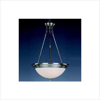 Maxim 990238MRPB, 0 Fluorescent Invert Bowl Pendant, 3 Light, Polished Brass (Bowl Brass Pendant Polished Medium)