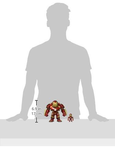 Jada Toys Metals Marvel 6″ Classic Figure – Hulkbuster & 2″ Ironman (M132) Toy Figure
