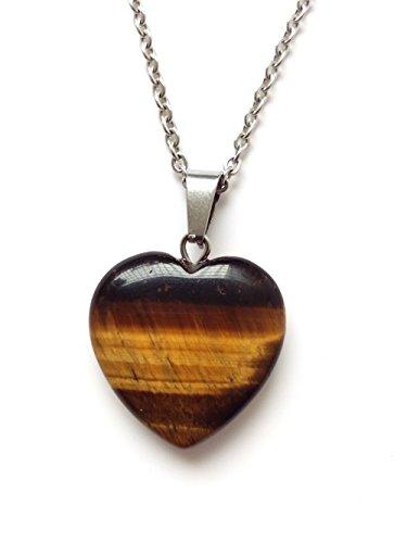 Heart Shape Stone - AIMITH Love Pendant Heart Shape Necklace Natural Onyx Crystal Gemstone Rock Healing Stone Chakra Jewelry 18