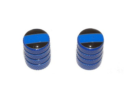 Thin Blue Line Motorcycle Schrader
