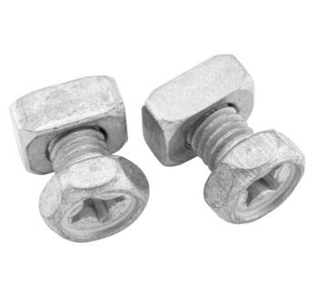 BikeMaster Battery Bolt 6x10mm Bolt/Rectangle Nut (2 Sets) B-04