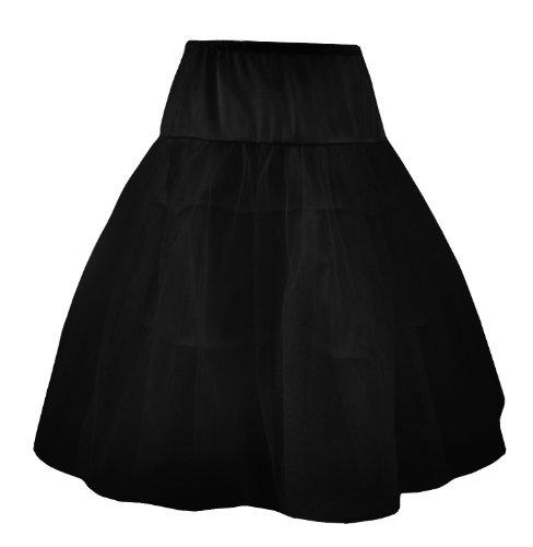 Red de organza y raso Petticoat Underskirt Rockabilly Burlesque Gótico en tamaños 10–�?4 Black Petticoat
