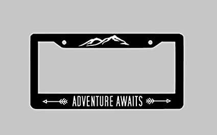 Strawbaru Adventure Awaits License Plate Frame, Car Tag Frame, License  Plate Holder, Car Plate Frame, Auto License Plate Frame
