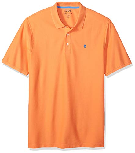 IZOD Men's Big and Tall Advantage Performance Short Sleeve Solid Polo Shirt, Melon, 3X-Large ()