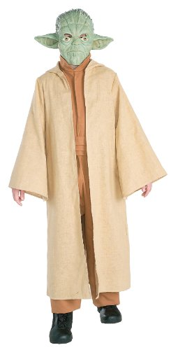[Rubie's Costume Co Deluxe Yoda Costume, Medium] (Womens Deluxe Hooded Robe Costumes)