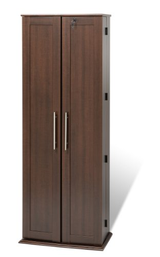Espresso Grande Locking Media Storage Cabinet with Shaker Doors by Prepac
