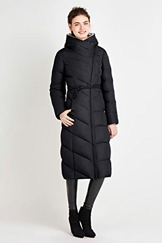 Piumino Inverno Eleganti Giacca Cappotti Aderenti Nero Abbigliamento trnZRtq7wx