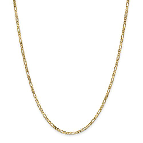 Ice Necklace Gold (ICE CARATS 14kt Yellow Gold 2.5mm Link Figaro Chain Necklace 20 Inch Pendant Charm Fine Jewelry Ideal Gifts For Women Gift Set From Heart)