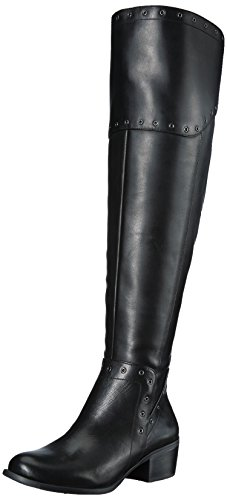 Over Knee Leather Boots (Vince Camuto Women's Bestan Over The Knee Boot, Black Wide Calf, 8.5 Medium US)