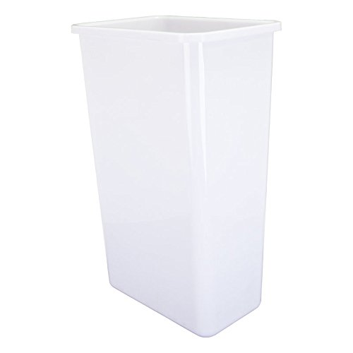 (Hardware Resources CAN-50W Plastic Waste Container, White)