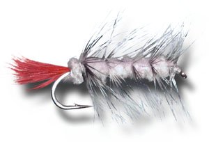 Woolly Worm - White Fly Fishing Fly - Size 12 - 6 Pack