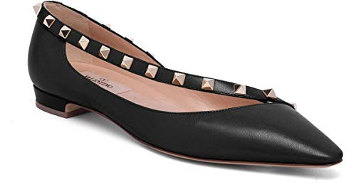 Valentino Garavani Rockstud Leather D'Orsay Flats Shoes for sale  Delivered anywhere in USA