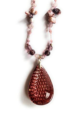Teardrop Freeform Pendant (Teardrop Beading Necklaces with freeform pearls)