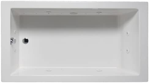 Malibu MHVN6636C01 Venice Rectangular Combination Whirlpool and Massaging Air Jet Bathtub
