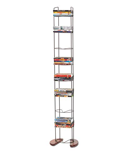 Atlantic 72212041 Cherry 93 DVD Storage Rack Cherry - Rack Dvd Storage