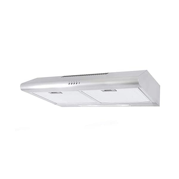 Cosmo 5MU30 30 in. Under Cabinet Range Hood with Ducted / Ductless Convertible Duct, Slim Kitchen Stove Vent with, 3… 4