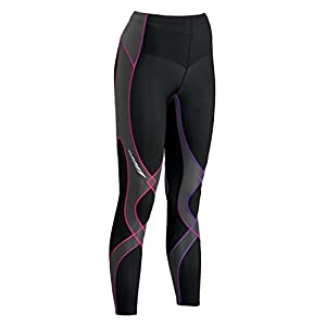 CW-X Women's Insulator Stabilyx Tights, Black/Purple, Small