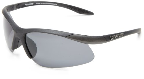 PEPPERS Men's Ricochet Shield Sunglasses,Black Frame/Smoke Lens,one size