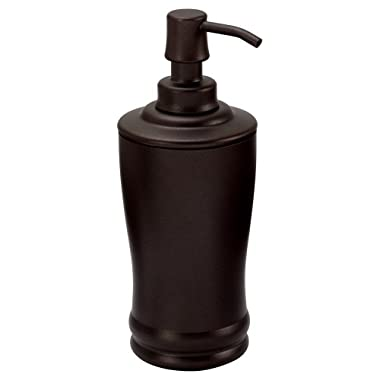 InterDesign Olivia Tall Soap & Lotion Dispenser Pump, for Kitchen or Bathroom Countertops - Bronze