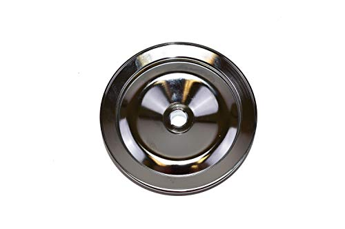 A-Team Performance Steel Key-Way Power Steering Pump Pulley Compatible with 1955-72 Chevy//GM Black Single Groove