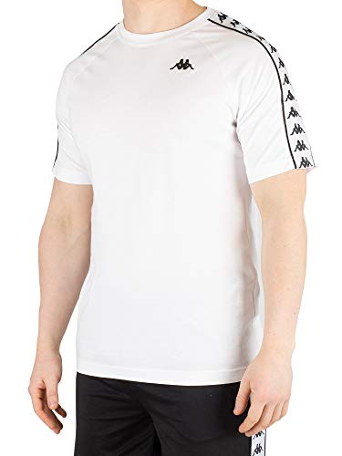 Kappa Men's 222 Banda Coen T-Shirt, White, M for sale  Delivered anywhere in Canada