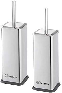 Simpli-Magic 79253 Toilet Brush and Holder Stainless Steel 2 Pack