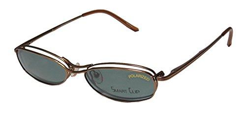 SmartClip 431 Womens/Ladies Cat Eye Full-rim Sunglass Lens Clip-Ons Spring Hinges Eyeglasses/Eyeglass Frame (53-15-135, Honey - Sunglasses Cycling Prescription Lenses Progressive