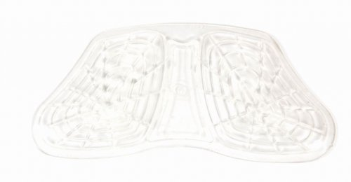 Roma Gel Front Riser Saddle Pad - Clear