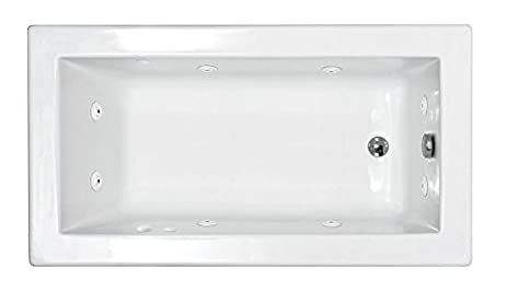 Lovely Atlantis Whirlpools 3060vnwr Venetian Rectangular Whirlpool Bathtub, 30 X 60,  Right Drain , White