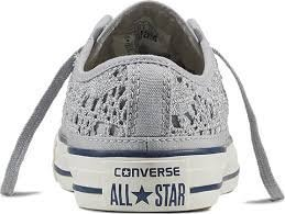Scarpa Converse CT AS Ox Crochet MainApps, Argento, 36