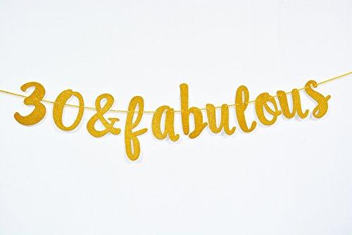 Firefairy 30 & Fabulous Cursive Banner- Happy 30tht