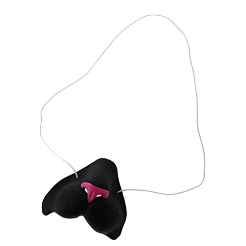 Dovewill Funny Latex Black Cat Nose with Elastic Band Halloween Party Costume Toy
