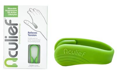 Aculief Naturel des maux de tête et la Tension de Secours Portable Acupressure pour LI4 Point d'Acupression