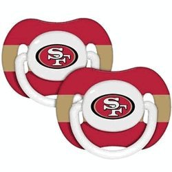 Baby Fanatic NFL Team Pacifier 2 Pack San Francisco - San Retailers Francisco