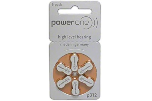 90 x Power One P312 Hearing Aid Batteries by PowerOne