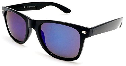 Unisex Polarized Mirror Wayfarer Sunglasses - MIB Style Mambo - Glasses Mib