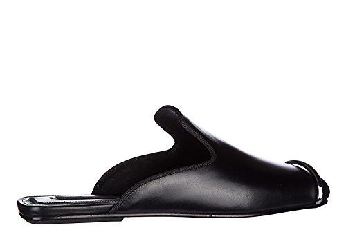 Alexander Wang mujer zapatillas sandalias en piel nuevo jaelle negro