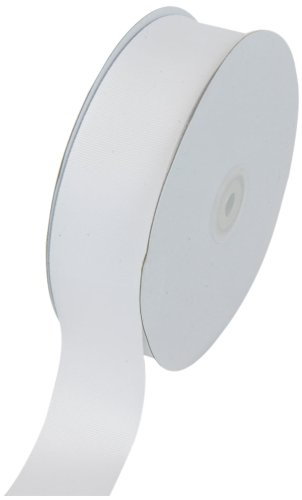 Creative Ideas Solid Grosgrain Ribbon, 1-1/2-Inch by 50-Yard, White