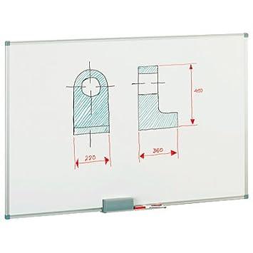 Pizarra blanca magnética lacada Faibo 60x90cm