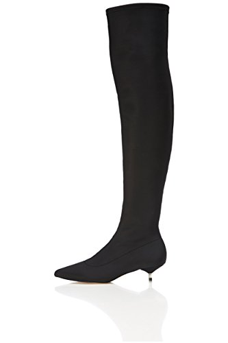 Knee FIND Women's in in Black Stretch Neoprene high Length Boots PHvqp
