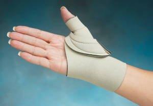 Comfort Cool Thumb CMC restriction Splint - Beige - Left Large by North Coast Medical