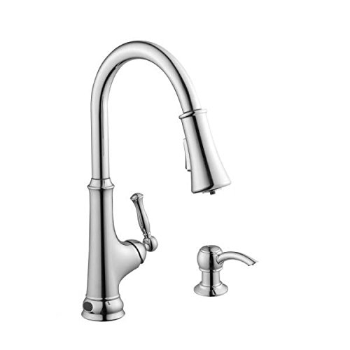 Glacier Bay (Glacier Bay Touchless Single-Handle Pull-Down Sprayer Kitchen Faucet with LED Light in Chrome)