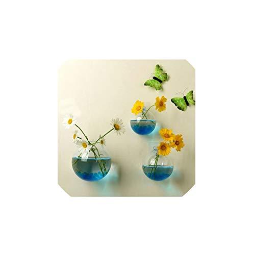 Garden Supplies Home Hanging Glass Ball Vase Flower Planter Pots Terrarium Container Home Garden Decoration,10Cm,Medium