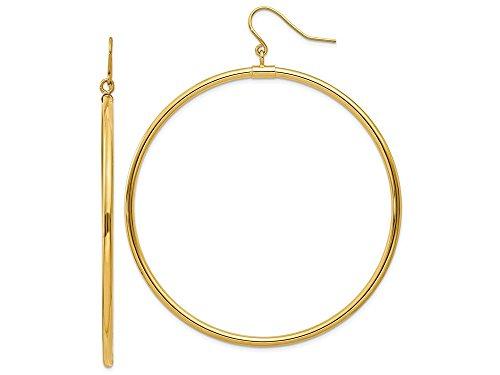 Finejewelers 14k Yellow Gold Tube Hoop Dangle - Dangle Tube Earrings 14k