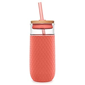 Ello Devon Glass Tumbler with Silicone Sleeve