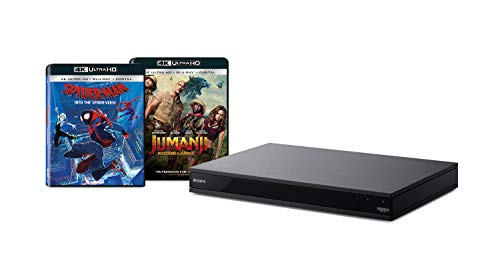 Sony UBP-X800M2 4K UHD Blu-Ray Disc Player with 2 4K Ultra HD Movies